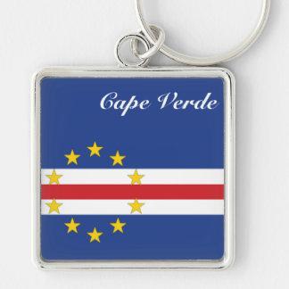 Colección de encargo de Africankoko (Cabo Verde) Llavero Cuadrado Plateado