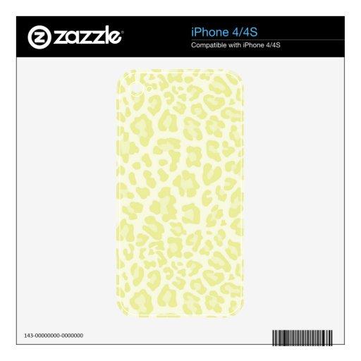 Colección de estampado leopardo del arco iris - am calcomanías para iPhone 4S