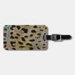 Colección de estampado leopardo etiqueta de maleta