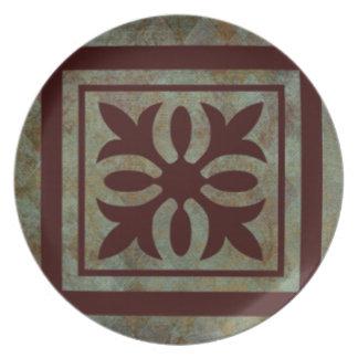 Colección de Fleuris de la mandala Plato De Cena