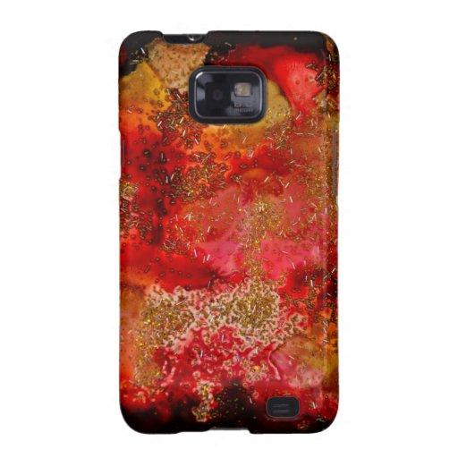 Colección de Geode del rubí y del ónix Galaxy S2 Fundas