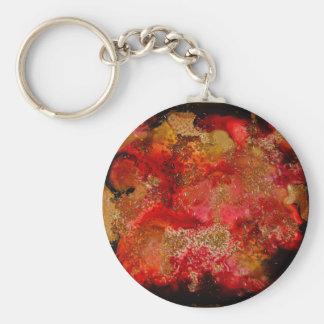 Colección de Geode del rubí y del ónix Llavero Personalizado