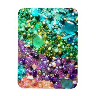 Colección de gotas coloridas iman rectangular
