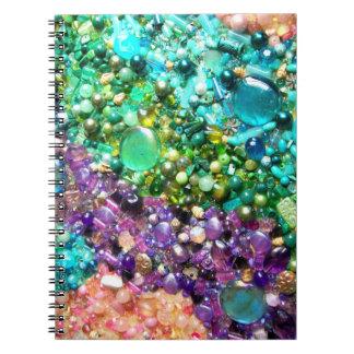 Colección de gotas coloridas libros de apuntes con espiral