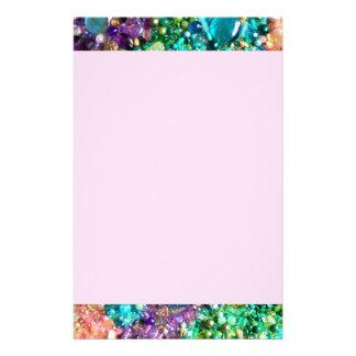 Colección de gotas coloridas papelería personalizada