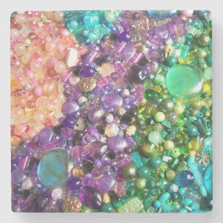 Colección de gotas coloridas posavasos de piedra