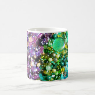 Colección de gotas coloridas taza básica blanca