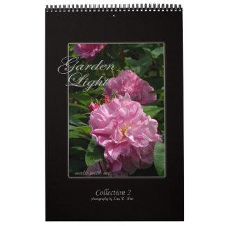 Colección de impresión ligera del jardín 2 calendario de pared