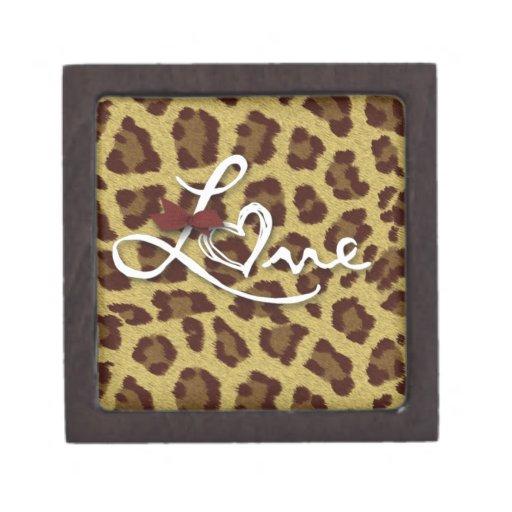 Colección de impresiones del guepardo del amor cajas de regalo de calidad