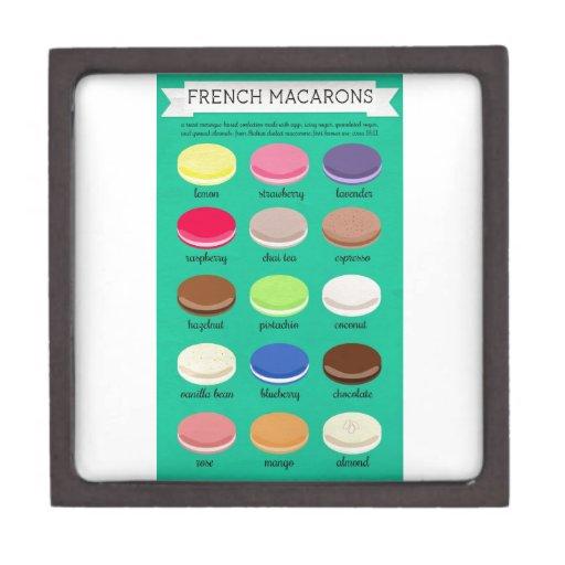 Colección de la alegría del panadero: Francés Maca Cajas De Joyas De Calidad