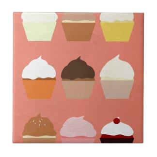 Colección de la alegría del panadero: Magdalenas Azulejo Cuadrado Pequeño