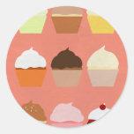 Colección de la alegría del panadero: Magdalenas Etiquetas Redondas
