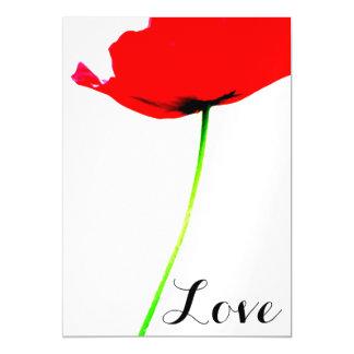 Colección de la AMAPOLA (01) con el amor - tarjeta