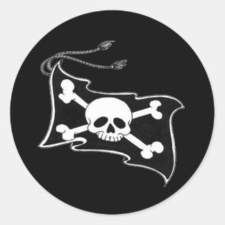 Colección de la bandera de la zambullida pegatinas redondas