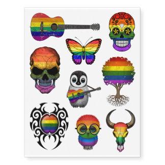 Colección de la bandera del arco iris del orgullo