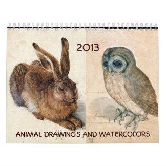 COLECCIÓN de la BELLA ARTE/dibujos animales 2017 Calendario