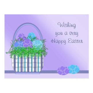 Colección de la cesta de Pascua Postal