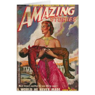 Colección de la ciencia ficción tarjeta de felicitación