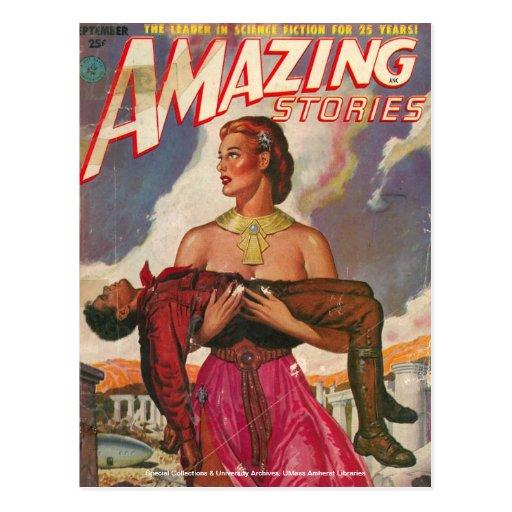 Colección de la ciencia ficción tarjeta postal