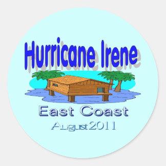 Colección de la costa este de Irene del huracán Etiqueta Redonda