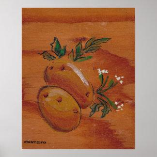 Colección de la decoración de la cocina - patatas póster