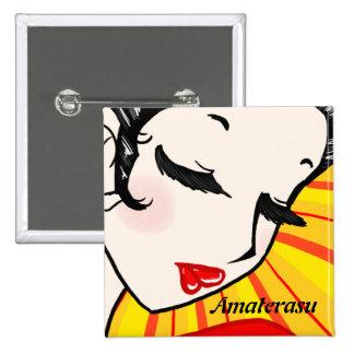 Colección de la deidad el patrón - Amaterasu Pin Cuadrada 5 Cm