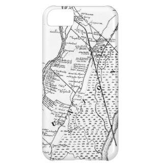 Colección de la exposición de los MAPAS: Línea art Funda Para iPhone 5C