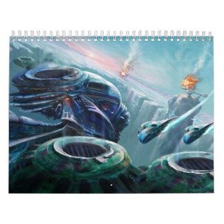 Colección de la fantasía de Digitaces Calendario