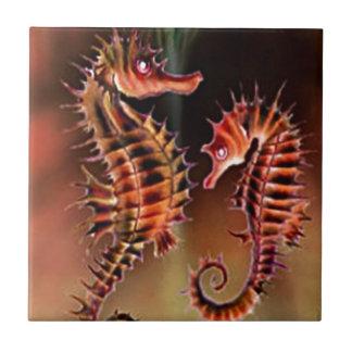 Colección de la fantasía del caballo de mar azulejo cuadrado pequeño