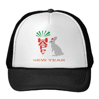Colección de la Feliz Año Nuevo con diseño de las  Gorras De Camionero
