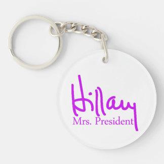 Colección de la firma de Hillary Llavero Redondo Acrílico A Una Cara