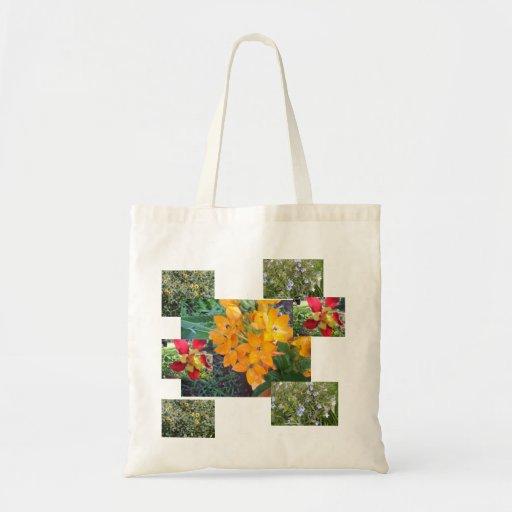 Colección de la flor bolsa tela barata