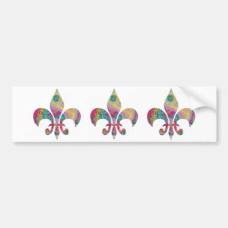 Colección de la flor de lis pegatina para auto