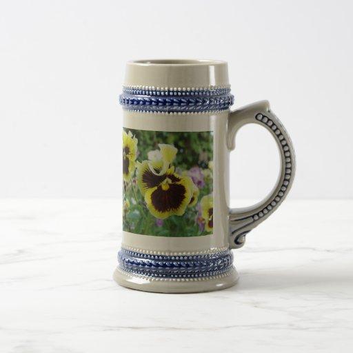 Colección de la flor de mi esposa jarra de cerveza