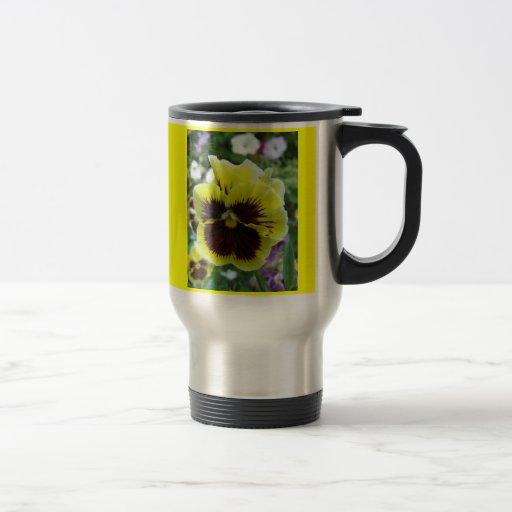 Colección de la flor de mi esposa taza de viaje de acero inoxidable