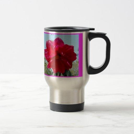 Colección de la flor de mi esposa tazas de café