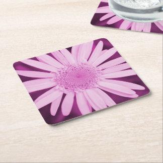 Colección de la flor - prácticos de costa rosados posavasos personalizable cuadrado