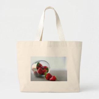 Colección de la fresa del verano bolsas lienzo