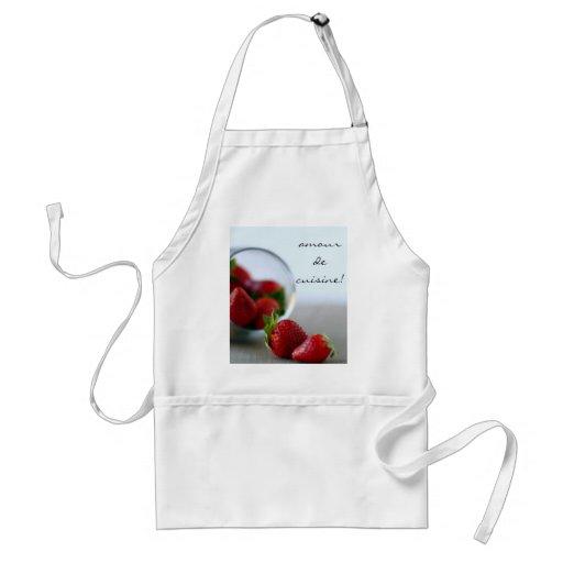 Colección de la fresa del verano delantal