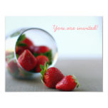 Colección de la fresa del verano anuncios personalizados