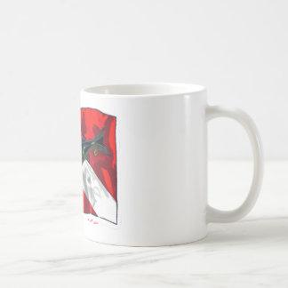 Colección de la guarida de los buceadores taza básica blanca