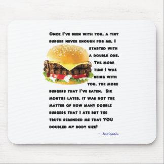Colección de la hamburguesa alfombrillas de ratones