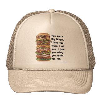 Colección de la hamburguesa gorro de camionero