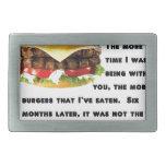 Colección de la hamburguesa hebilla de cinturon rectangular