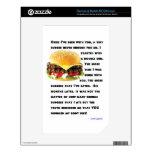 Colección de la hamburguesa calcomanía para el NOOK color