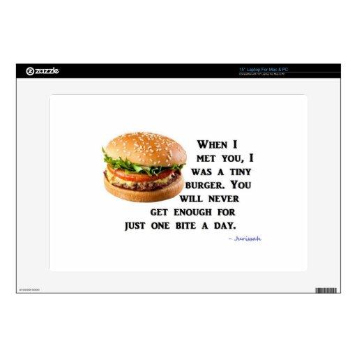Colección de la hamburguesa skins para portátiles