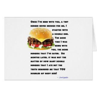 Colección de la hamburguesa tarjeta de felicitación