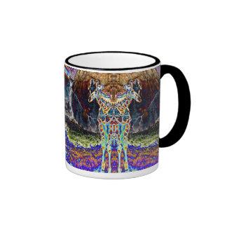 Colección de la jirafa del espejo taza de café