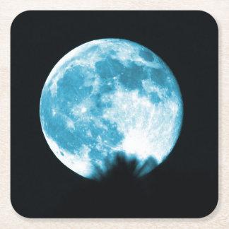 Colección de la luna - práctico de costa de la posavasos personalizable cuadrado