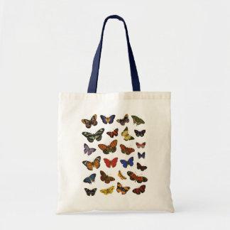 Colección de la mariposa bolsa tela barata